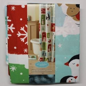 St. Nicholas Square Holiday Cheer Shower Curtain